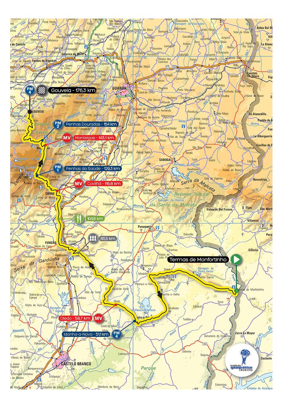 termas de monfortinho mapa 75ª Volta a Portugal Liberty Seguros termas de monfortinho mapa